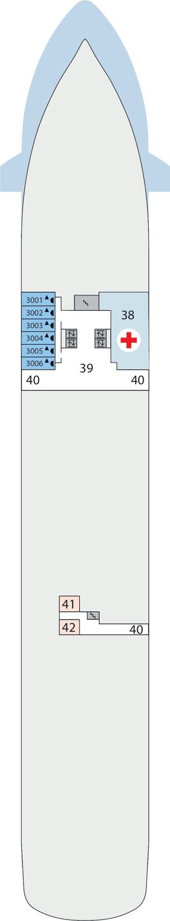 AIDAaura - Deck 3
