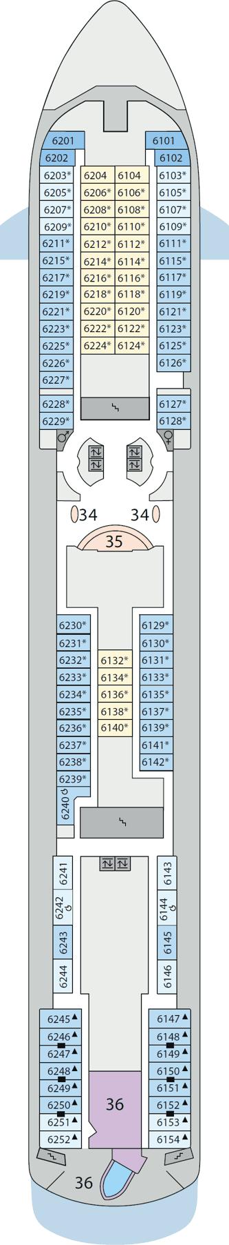 AIDAaura - Deck 6