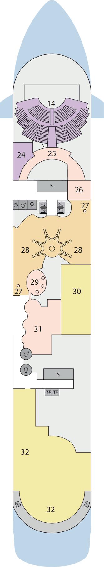 AIDAaura - Deck 8