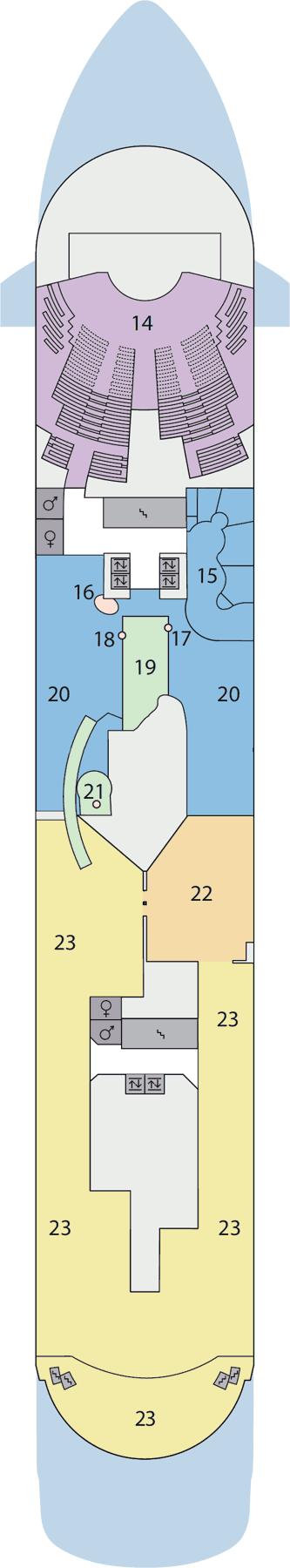 AIDAaura - Deck 9