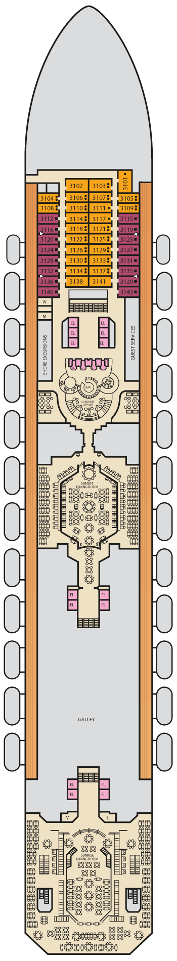 Carnival Sunshine - Lobby Deck