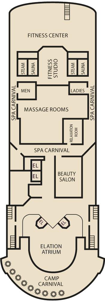 Carnival Elation - Sports Deck