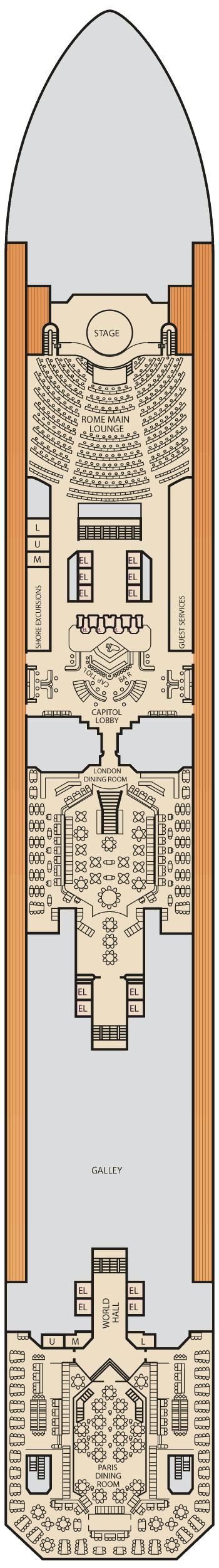 Carnival Triumph - Lobby Deck