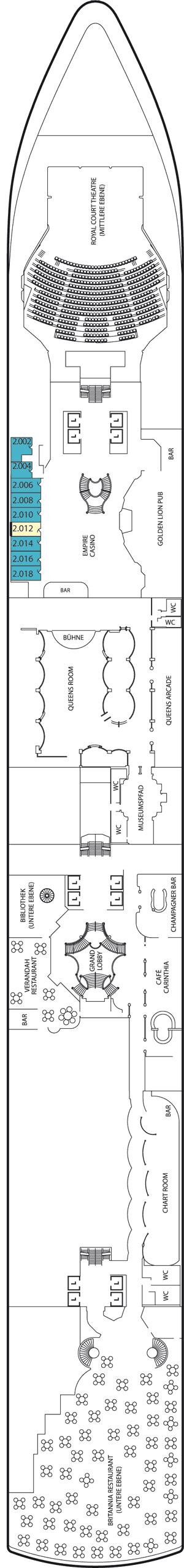 Queen Victoria - Deck 2