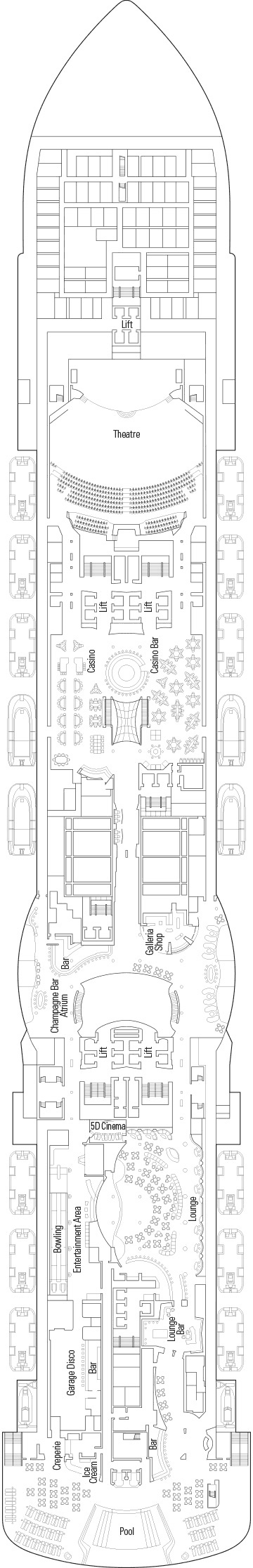 MSC Seaside - Deck 7