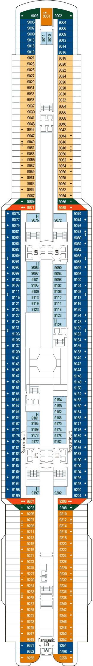 MSC Seaside - Deck 9