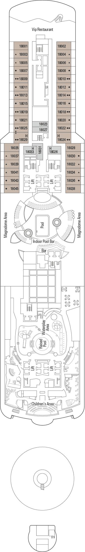MSC Seaside - Deck 18