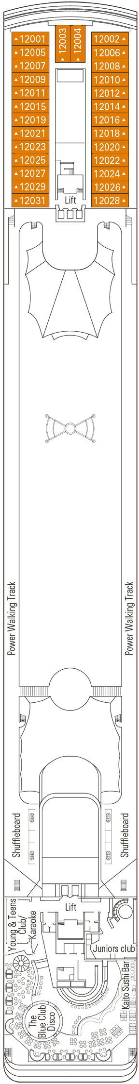 MSC Lirica - Rossini Deck