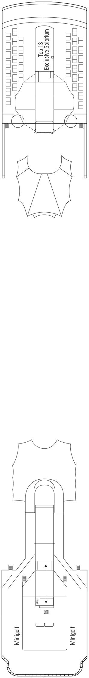 MSC Lirica - Sun Deck, Minigolf Deck