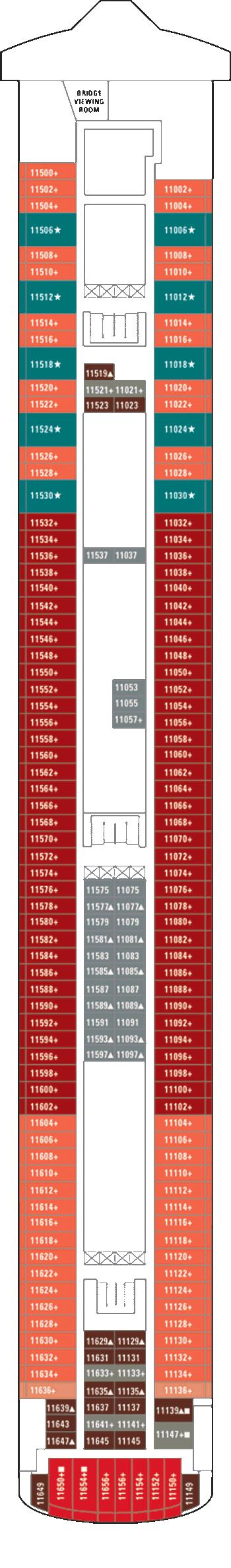 Norwegian Gem - Deck 11