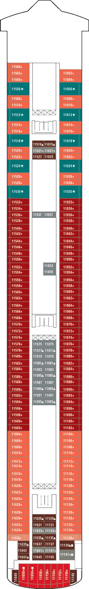 Norwegian Jewel - Deck 11