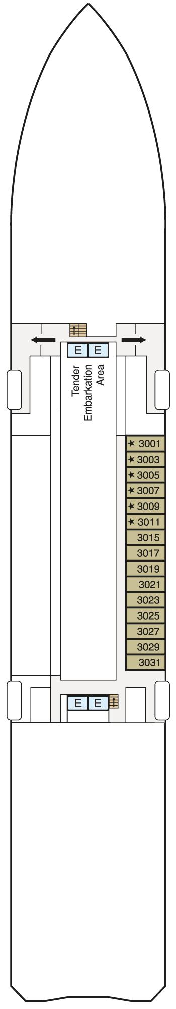 MS Regatta - Deck 3