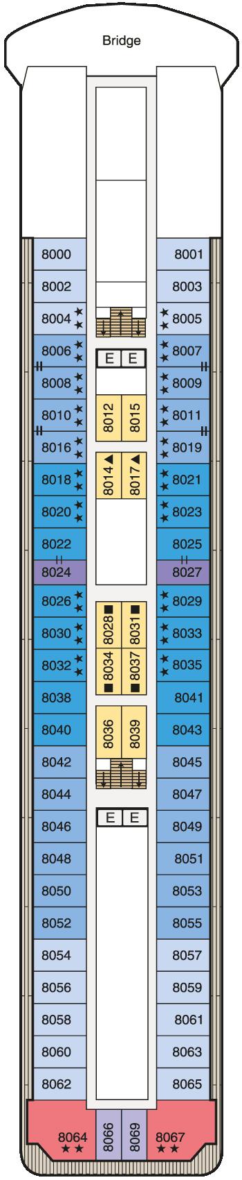 MS Regatta - Deck 8