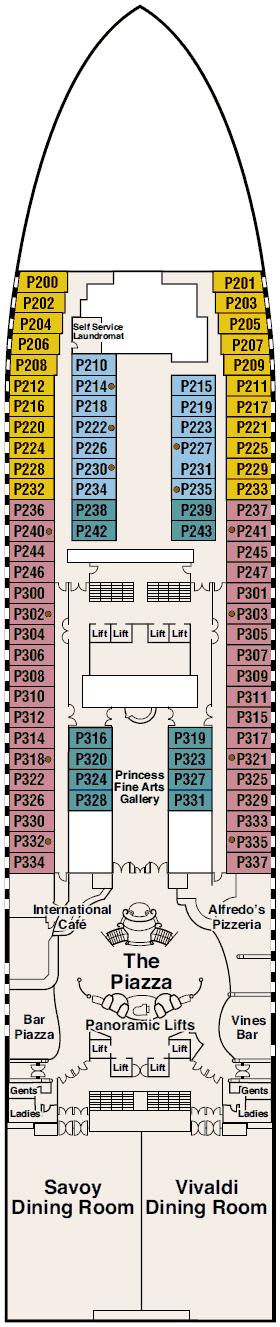 Sapphire Princess - Plaza