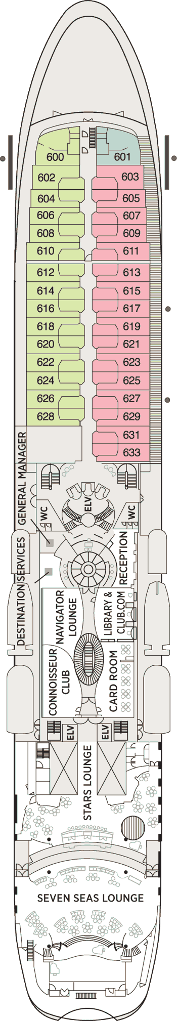 Seven Seas Navigator - Deck 6