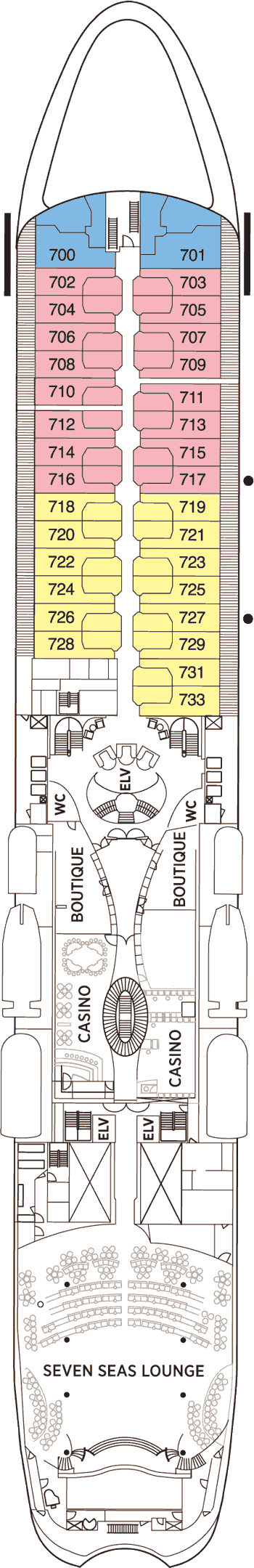 Seven Seas Navigator - Deck 7