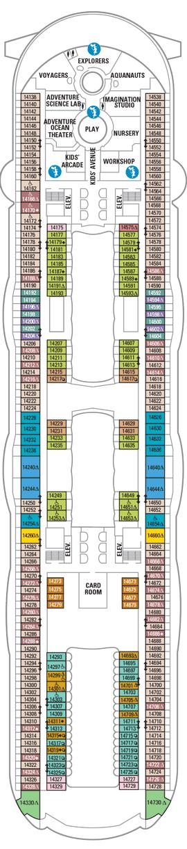 Allure of the Seas - Deck 14